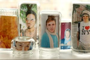 Create your own Glass Jar Photo Frames