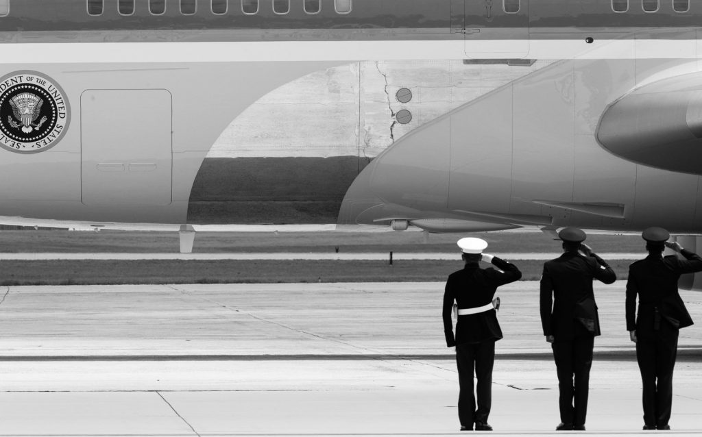 Saluting Air Force One