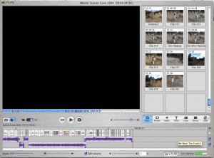 iMovie with simple timeline