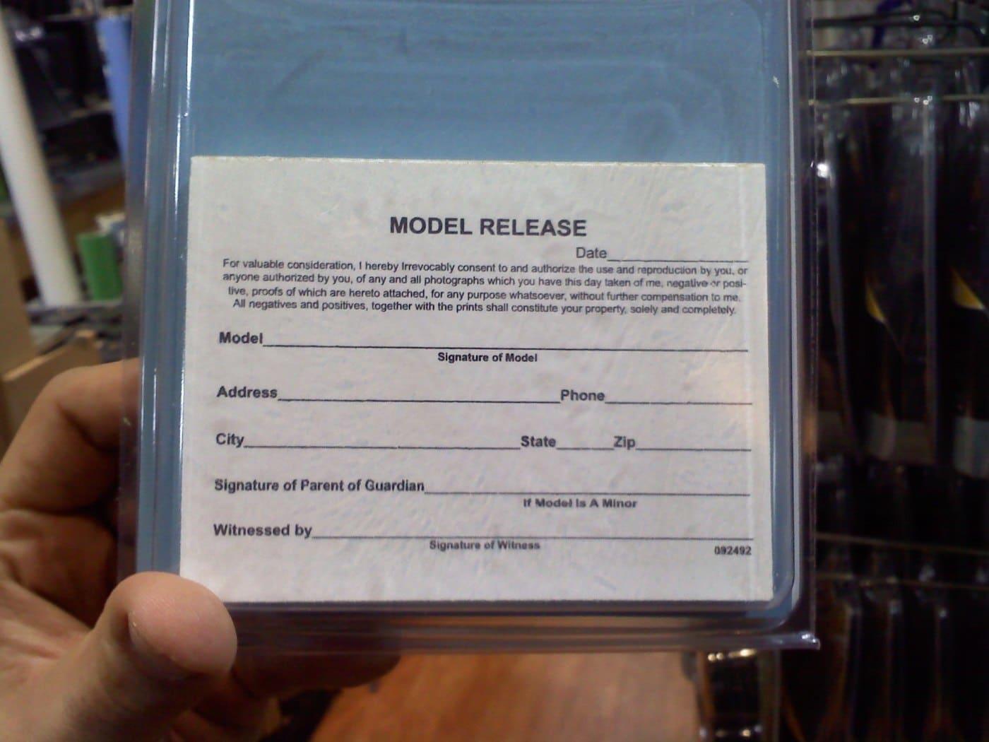 Pocket Model Release Pad