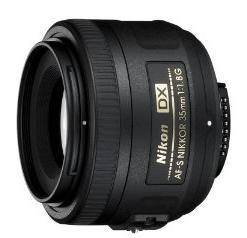 Nikon 35mm f/1.8 DX lens on a full frame camera