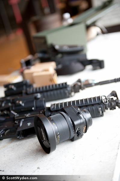 A Photographer Shooting… Guns