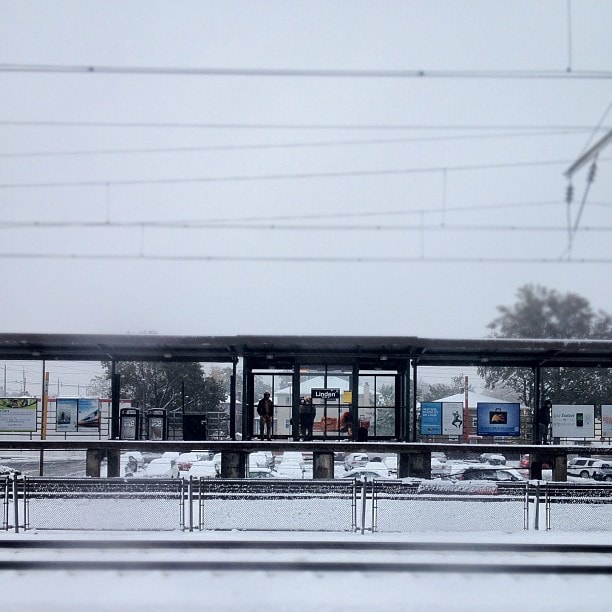 October Snow from Transit