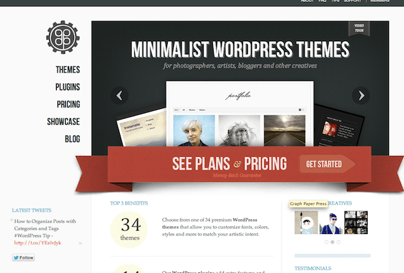 popular wordpress theme for photographers