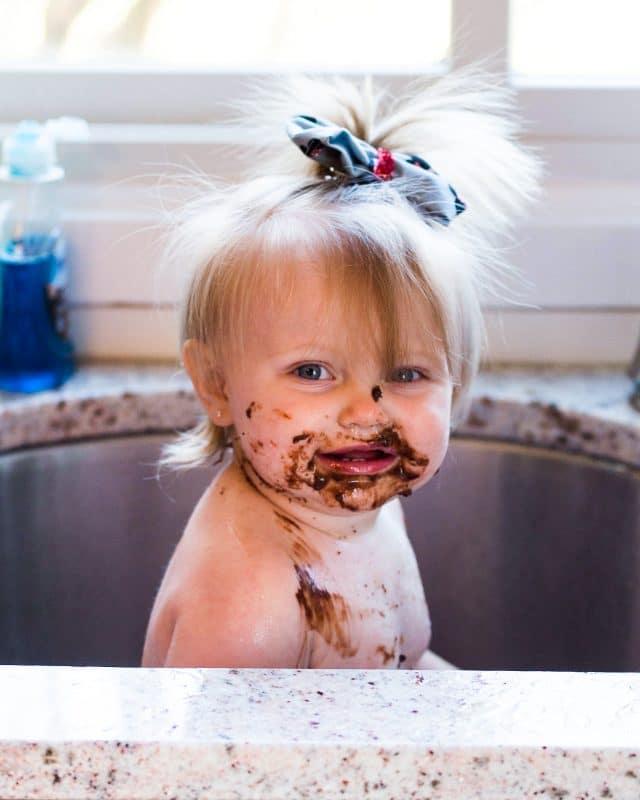 Paityn Cake Smash Cleanup
