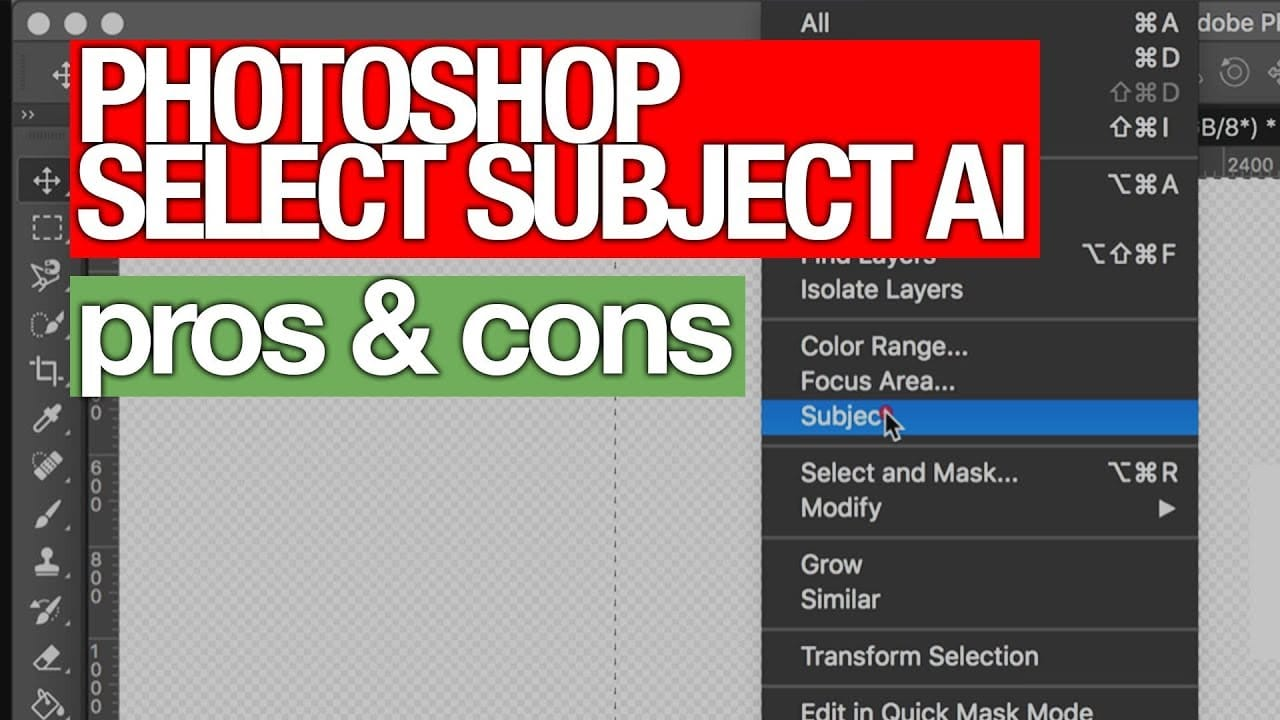 Photoshop's New AI to Select Subjects (Pros & Cons)