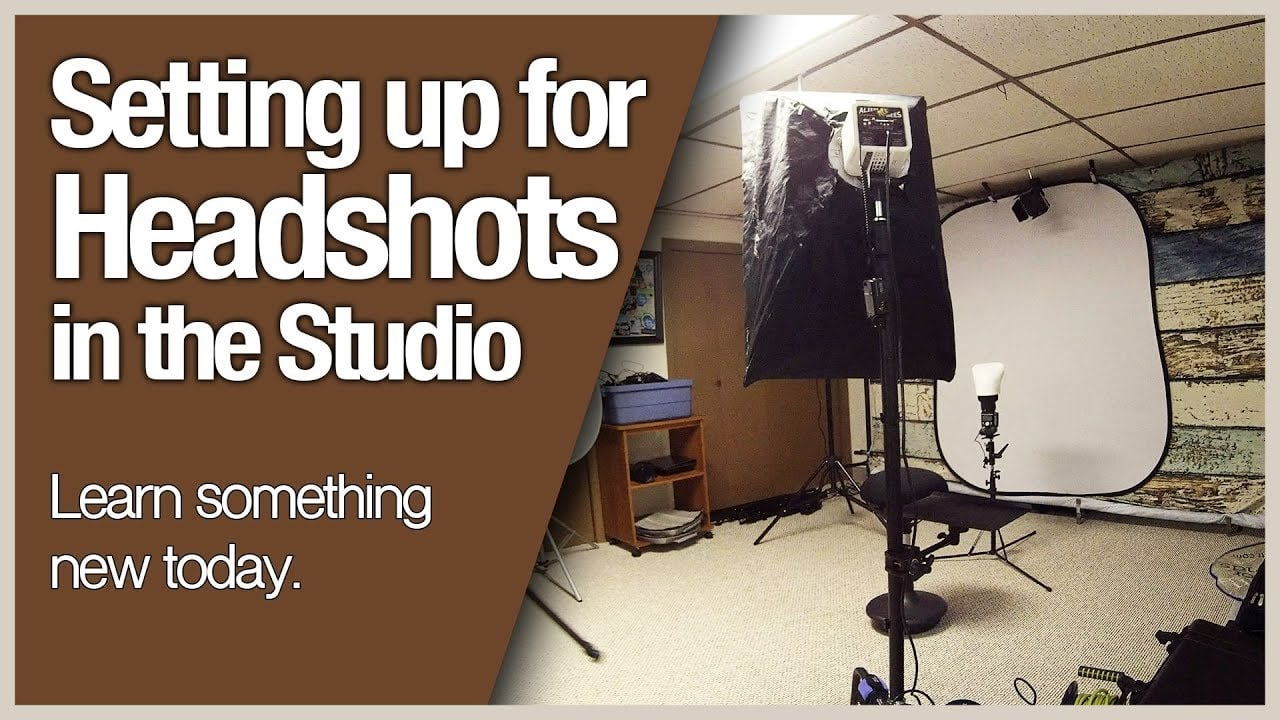 Setting up for Headshots in the Studio