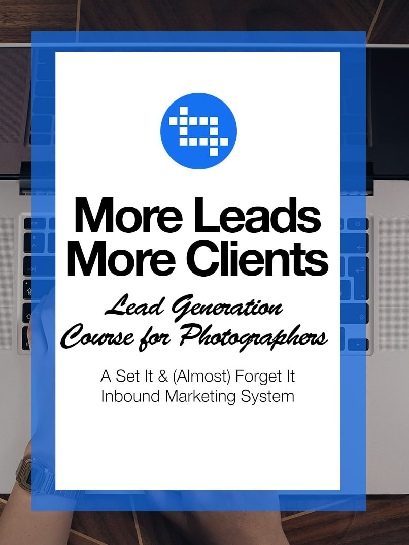 The go-to lead generation course for photographers in any genre of the industry. Learn a strategic and proven method to generate roughly 10 leads per week. This tried and tested system has been well crafted and optimized for any photographer. Get more leads and clients starting right now. Take the course.