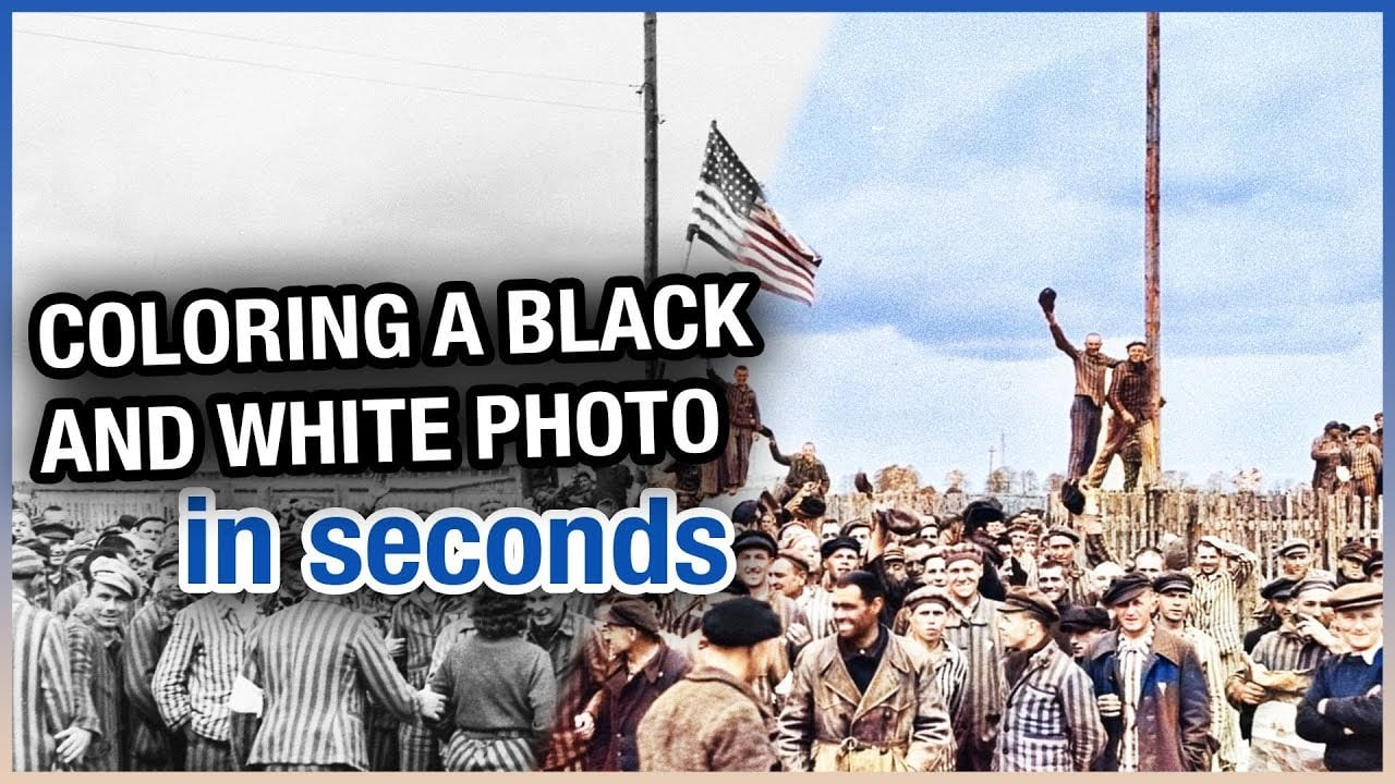 Coloring A Black And White Photo in Seconds   Colorize with AI